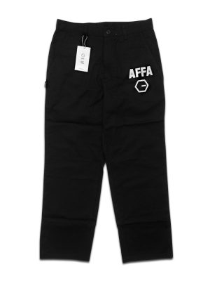 AFFA Black Chino Cropped Pants