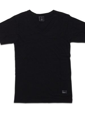 Basic V-neck Black Tee