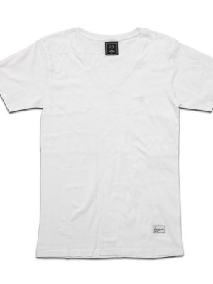 Basic V-neck White Tee