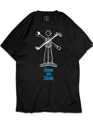 Honor Till Death (Bone) Black Tee