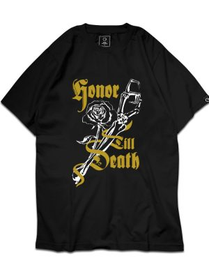 Honor Till Death (Rose) Black Tee