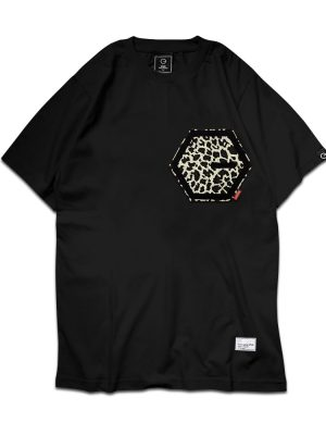 Pocket Print Black Tee