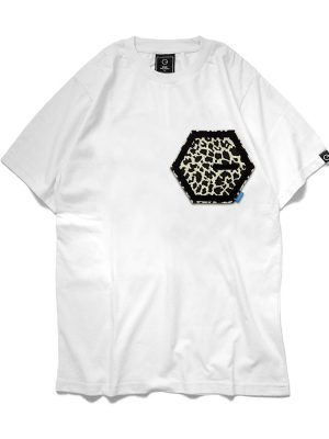 Pocket Print White Tee